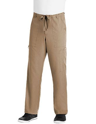 Grey's Anatomy Men Multiple Pockets Zip Fly Medical Scrub Pants-GR-0203