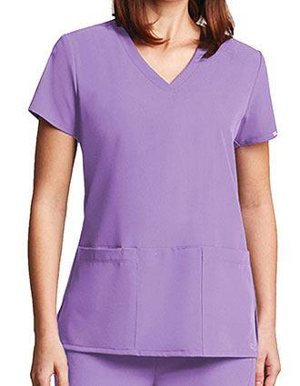 Grey's Anatomy Signature Women's 3-Pockets V-Neck Scrub Top-GR-2115