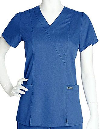 Grey's Anatomy Junior Fit Two Pocket Scrub Top-GR-41101