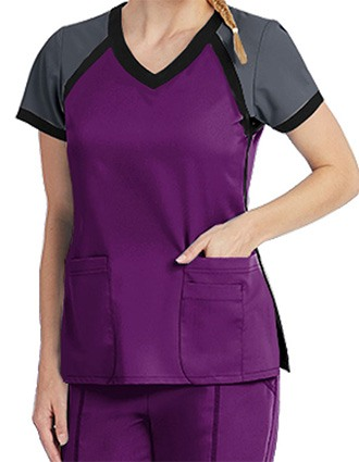 Grey's Anatomy Active Women's Color Block V-Neck Top