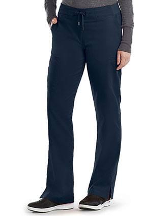 Grey's Anatomy Women's Tie Front Petite Scrub Pant