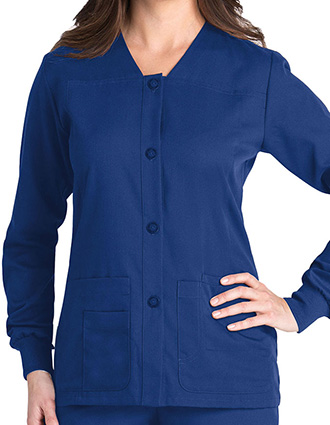 Grey's Anatomy 4-Pocket Sporty Warm-up Scrub Jacket-GR-4435