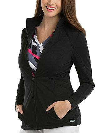 Grey's Anatomy Women's Princess Seamed Zip Front Jacket