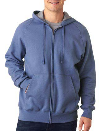 N280 Hanes Adult Nano Full-Zip Blended Hooded Fleece-HA-N280