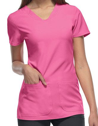 HeartSoul Women's Pitter-Pat Shaped V-Neck Scrub Top-HE-20710