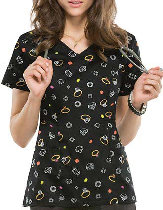 Buy Heartsoul Women S You Re A Gem V Neck Scrub Top For 26 99