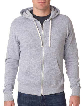 J8872 J-America Adult Tri-Blend Full-Zip Hooded Fleece-JA-J8872