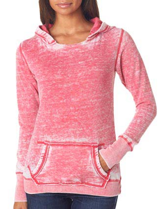 J8912 J-America Ladies' Vintage Zen Hooded Fleece-JA-J8912