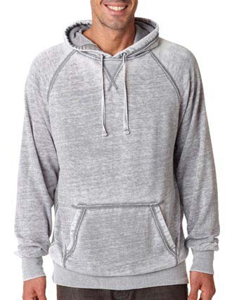 J8915 J-America Adult Vintage Zen Hooded Pullover Fleece-JA-J8915