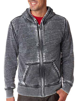 J8916 J-America Adult Vintage Zen Full-Zip Hooded Fleece-JA-J8916