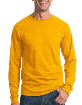 JERZEES - Heavyweight Blend 50/50 Cotton/Poly Long Sleeve T-Shirt. 29LS-JE-29LS