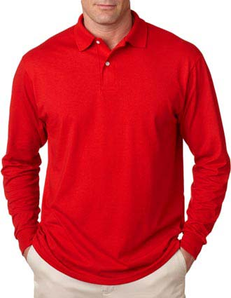 437L Jerzees Adult Long-Sleeve Jersey Polo with SpotShield-JE-437L