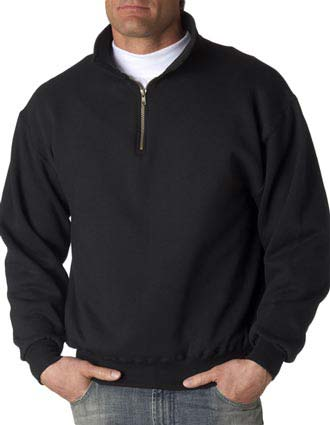 4528 Jerzees Adult Super Sweats Quarter-Zip Cadet Collar Sweatshirt-JE-4528