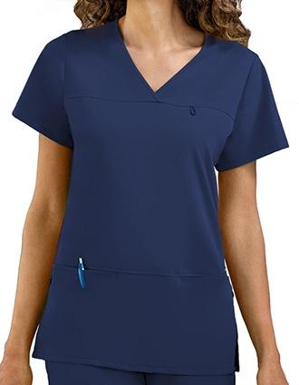 Jockey Scrubs Women's Six Pocket Jewel Neck Scrub Top-JO-2299