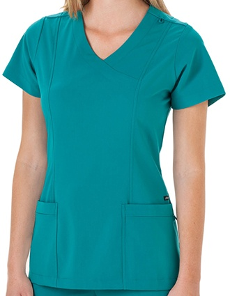 Jockey Scrubs Ladies Mock Wrap Scrub Top-JO-2306