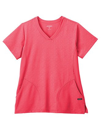 Jockey Classic Women's V-Neck Solid Illusion Hybrid Top-JO-2355