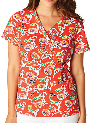 Koi Stretch Women's Trix Printed Luna Top