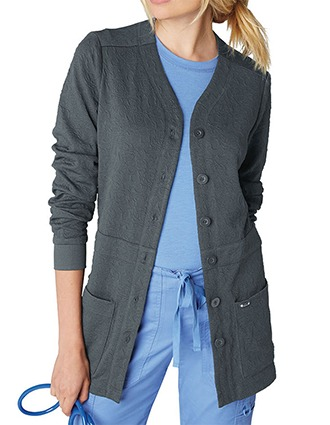 KOI Lite Women's V-neck Claire Sweater Jacket