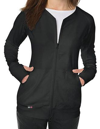 KOI Lite Women's V-neck Clarity Zip Front Jacket