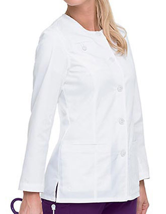 Landau Missy Smart Stretch Solid Nursing Scrub Jacket-LA-3027