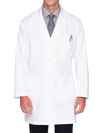 Landau Mens 37 inch Multi Pocket Twill Protective Medical Lab Coat-LA-3124
