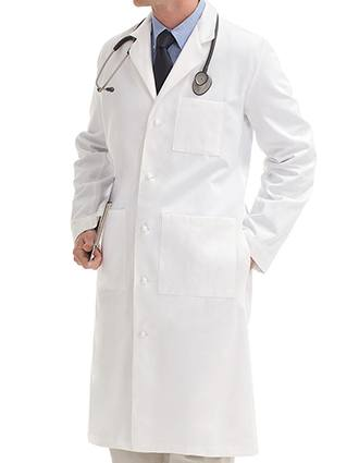 Landau Uniform 45 inch 100% Cotton Men Medical Lab Coat