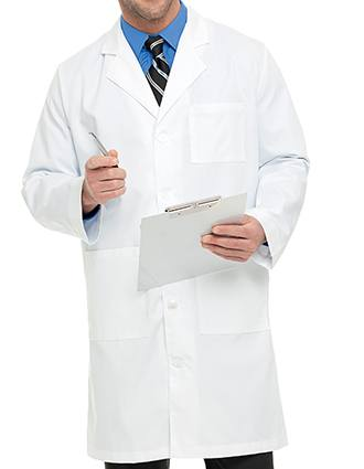 Landau Mens Twill 40.5 inch Knee Length Medical Lab Coat-LA-3139