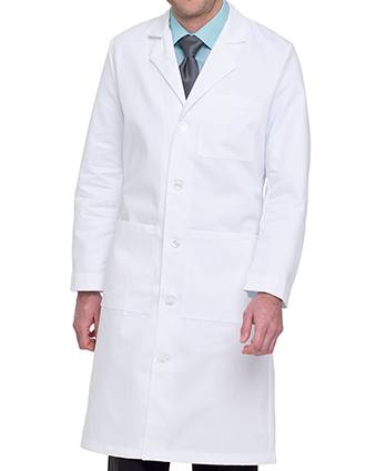 Landau Mens 43.5 inches Full Length Three Pocket Medical Lab Coat-LA-3140