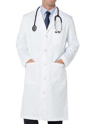 Landau Men's 43.5 inch Three Pocket Full Length Medical Lab Coat