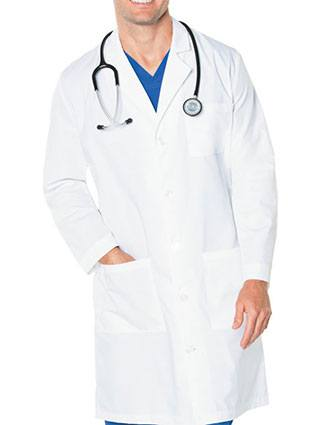 Landau Mens Three Pocket 43.5 inch Tall Medical Lab Coat