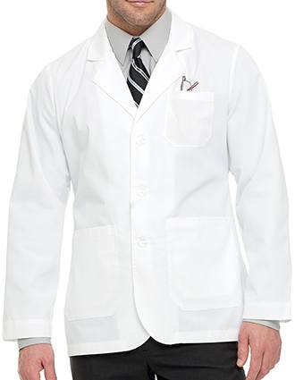 Landau Mens 30.75 inch Five Pocket Consultation Medical Lab Coat-LA-3224