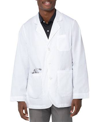 Landau Mens 30.75 inch White Twill Consultation Coat