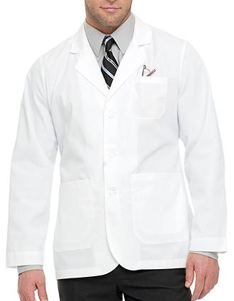 Landau Mens 32.75 inch Five Pocket Tall Twill Consultation Lab Coat