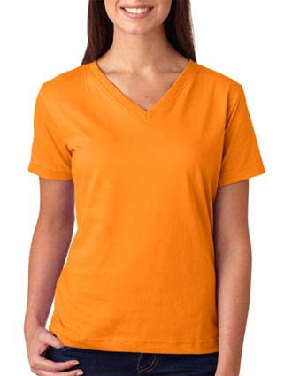 LA T Ladies' V-Neck T-Shirt