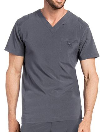 Landau Men's Media Scrub V-Neck Top