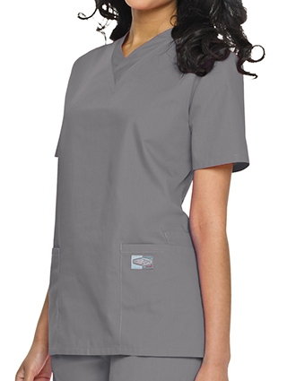 Landau ScrubZone Womens Double Pocket V-Neck Nursing Top-LA-70221