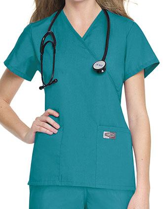Landau ScrubZone Women Two Pockets Nursing Scrub Top
