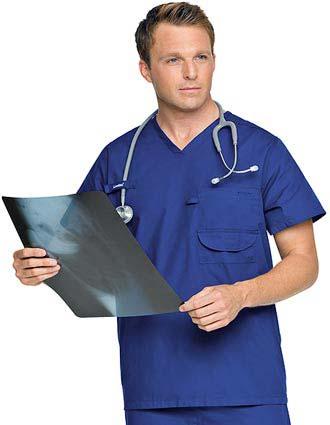 Landau Platinum Mens Multiple Pocket Ultimate Nurse Scrub Top-LA-7481