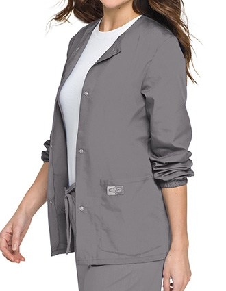 Landau Scrubzone Women Two Pockets Warm Up Nursing Scrub Jacket-LA-75221