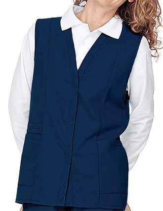 Landau Womens Double Pocket Colored Medical Scrub Vest-LA-755