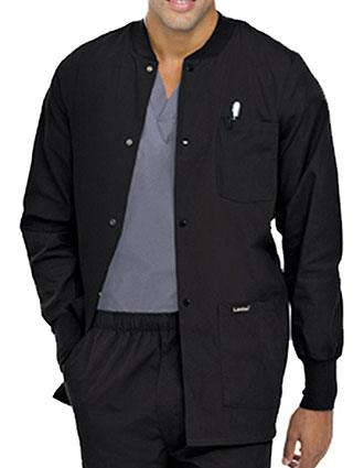Landau Mens Multipocket Rib Knit Medical Scrub Jacket-LA-7551