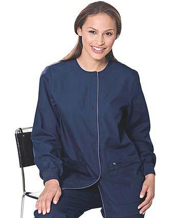 Landau Women Four Pocket Medical Warm Up Scrub Jacket-LA-7825