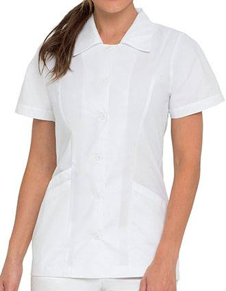 Landau Women's Button Front Student Nurse Scrub Top-LA-8051