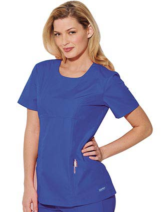 Landau Womens Antimicrobial Double Pocket Nurse Scrub Top-LA-8162