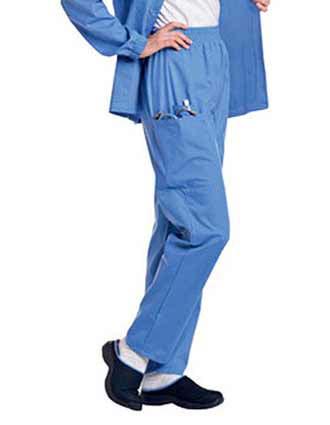 Landau Women Three Pockets Elastic Waist Petite Cargo Medical Scrub Pants