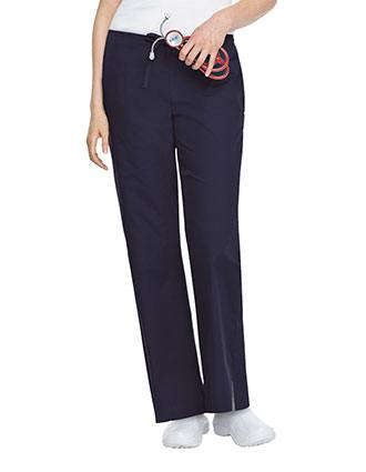 Landau ScrubZone Women Drawstring Front Flare Medical Scrub Pants-LA-83222