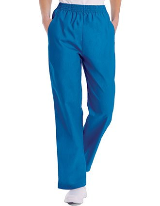 Landau Women Classic Relaxed Elastic Waist Medical Scrub Pants-LA-8327