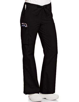 Landau Womens Flare Leg Cargo Medical Scrub Pants-LA-8355