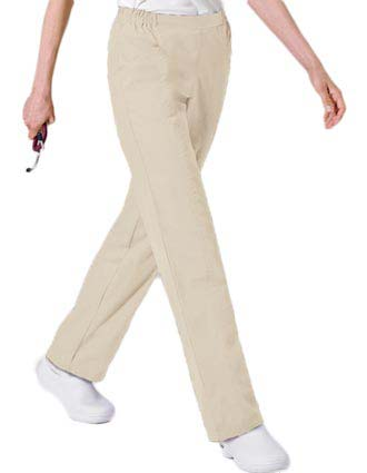 Landau Women Two Pockets Elastic Waist Medical Scrub Pants-LA-8369
