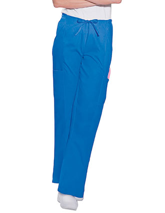 Landau Women Four Pockets Cargo Elastic Waist Medical Scrub Pants-LA-8385
